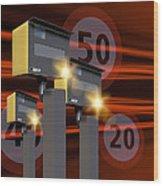 Traffic Speed Cameras Wood Print