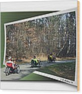 Trail Of Trikes Wood Print