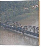 Train Along New River 3 Wood Print