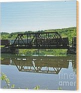 Train And Trestle Wood Print