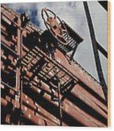 Train Car Wood Print