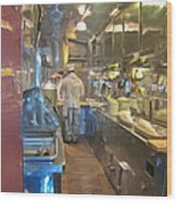 Train Galley Wood Print