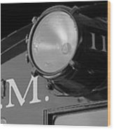 Train Headlight Wood Print