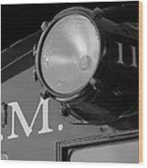 Train Headlight Wood Print
