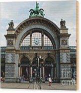 Train Station At Lucerne Wood Print