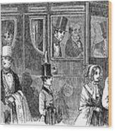 Train Travel: First Class Wood Print by Granger
