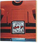 Train Western Pacific Wood Print by Garry Gay
