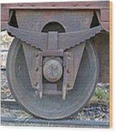 Train Wheel Wood Print