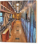 Trains - Post Office Mail Sorting Rail Car Inside I Wood Print