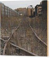 Trainyard In New Buffalo Wood Print