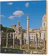Trajan's Market Wood Print
