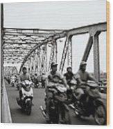 Trang Tien Bridge Hue Wood Print