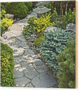 Tranquil Garden  Wood Print by Elena Elisseeva