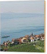 Tranquil Lake Geneva Wood Print