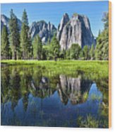 Tranquility In Yosemite Wood Print