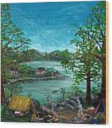 Tranquility Lake Wood Print