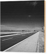 Trans Canada Highway 1 And Yellowhead Route In Manitoba Canada Wood Print