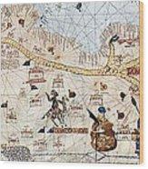 Trans-saharan Caravan Routes 1413 Wood Print by Sheila Terry