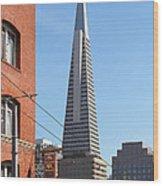 Transamerica Pyramid Tower In San Francisco . 7d7376 Wood Print
