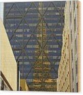 Transamerica Reflection Wood Print