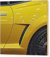 Transformers Camaro Wood Print