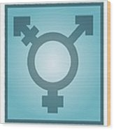 Transgender Symbol, Artwork Wood Print