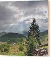Transylvania Landscape - Romania Wood Print