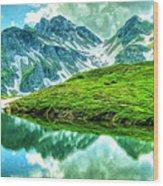 Travelers Rest Swiss Alps Wood Print