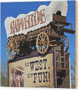 Traveling West Wood Print