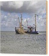 trawler - Sylt Wood Print by Joana Kruse
