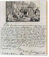 Treaty Between William Penn Wood Print