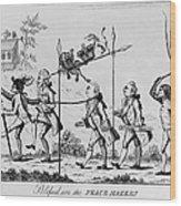 Treaty Of Paris, 1783 Wood Print