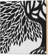 Tree Graphic Wood Print by HD Connelly