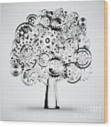 Tree Of Industrial Wood Print