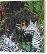 Tree Shrine Wood Print