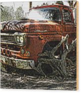 Tree Truck Wood Print by Peter Chilelli