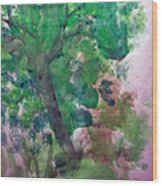 Tree.cohen And Me Wood Print by Peter Edward Green