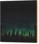 Trees Aglow Wood Print