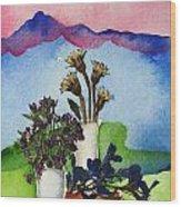 Tres Vasos Wood Print by Regina Ammerman