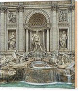 Trevi Fountain Wood Print