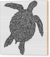 Tribal Turtle IIi Wood Print by Carol Lynne