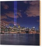 Tribute In Light II Wood Print
