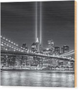 Tribute In Light Vi Wood Print