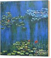 Tribute To Monet 1 Wood Print