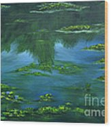 Tribute To Monet 2 Wood Print