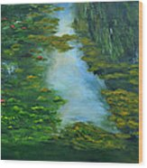 Tribute To Monet 3 Wood Print