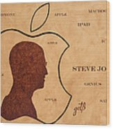 Tribute To Steve Jobs Wood Print