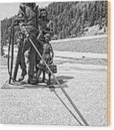 Tribute To The Mining Family - Wallace Idaho Wood Print