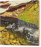 Trickle Waterfall Wood Print