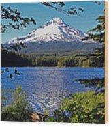 Trillium Lake At Mt. Hood II Wood Print